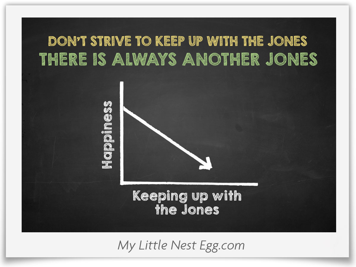 You Will Never Keep Up With the Jones – There is Always Another Jones